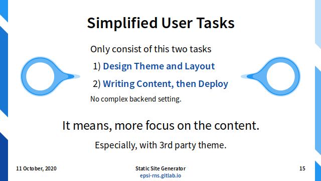 Slide - User Tasks: Simplified User Tasks