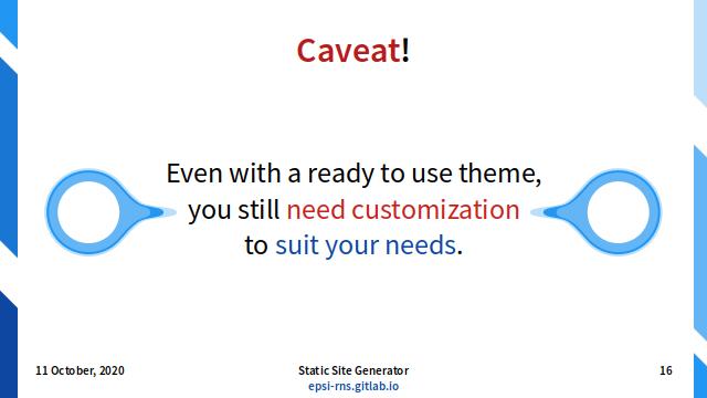 Slide - User Tasks: Caveat