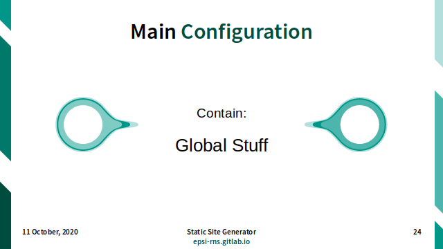 Slide - Theming: Main Configuration