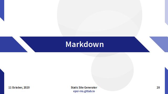 Slide - Markdown