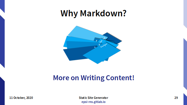 Slide - Markdown: Why Markdown