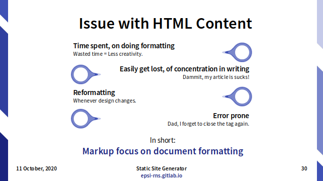 Slide - Markdown: Issue with HTML Content