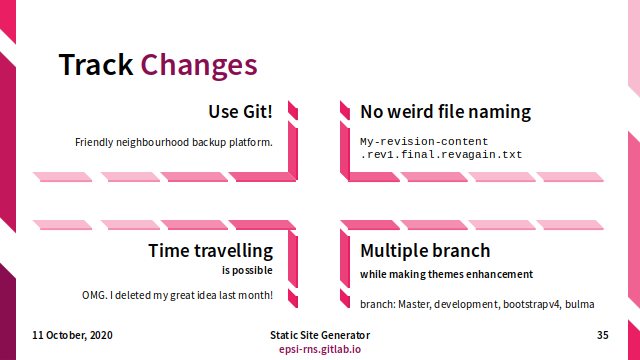 Slide - Repository: Track Changes