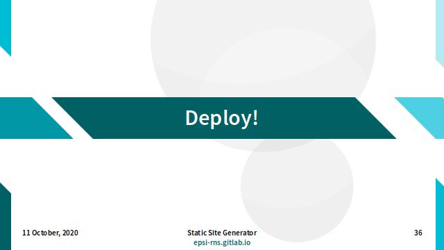 Slide - Deploy