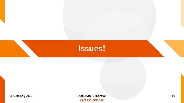 Slide - Issues