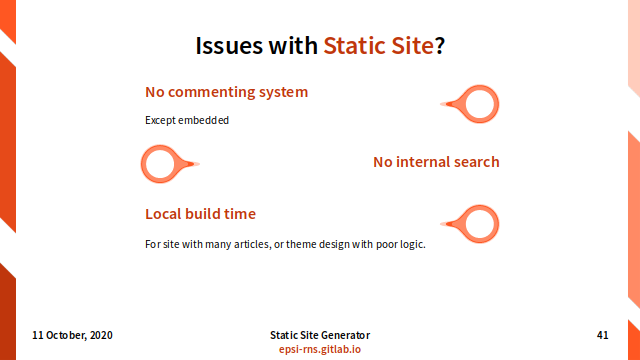 Slide - Issue with Static Site