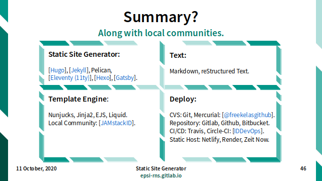 Slide - Summary: Along with Local Communities