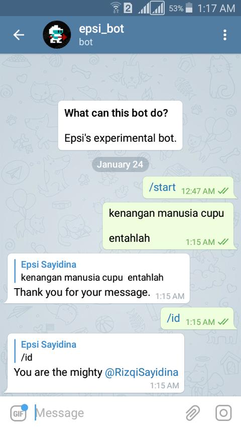 BASH: Telegram Bot: Script Feedback on Smartphone