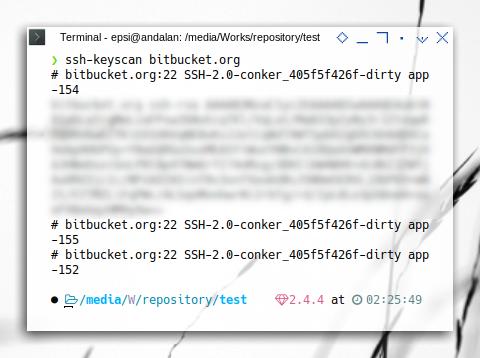 CircleCI+Bitbucket: ssh-keyscan bitbucket.org