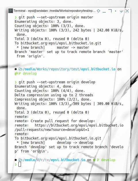 Bitbucket: Push Both Branches in Bitbucket