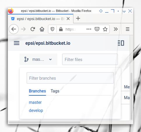 Bitbucket: Branches in Bitbucket Repository