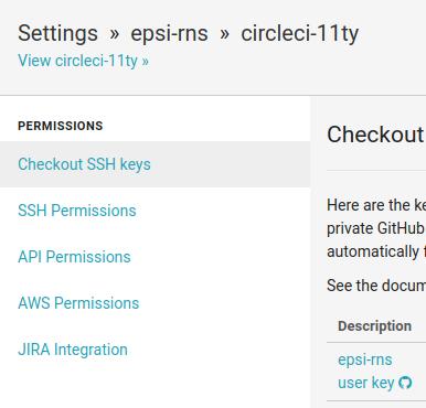 CircleCI: Checkout SSH Keys