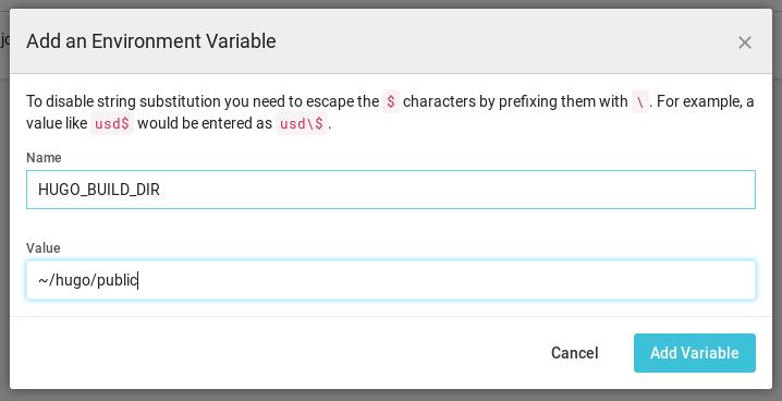 CircleCI: Setting Hugo Environment Variable