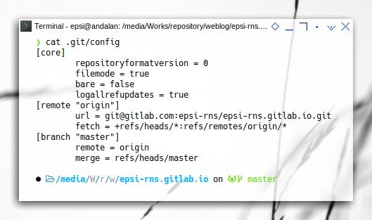 git refs: Refspec in .git/config