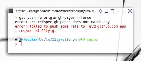 git refs: Git Push Error