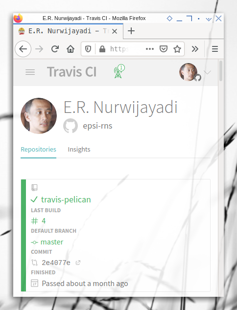 Travis: Sign-in with github