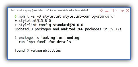 Stylelint: NPM Install