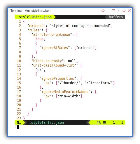 Stylelint: Configuration