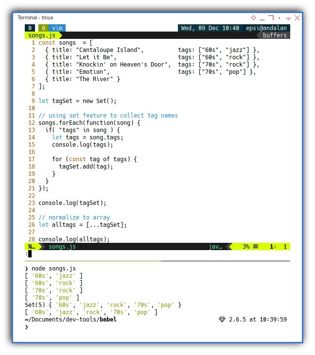 NodeJS: Run Ecmascript Directly Using Terminal