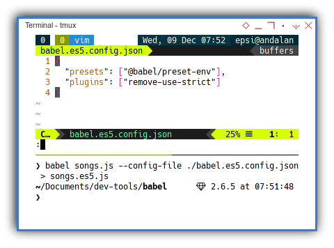 Babel: Configuration