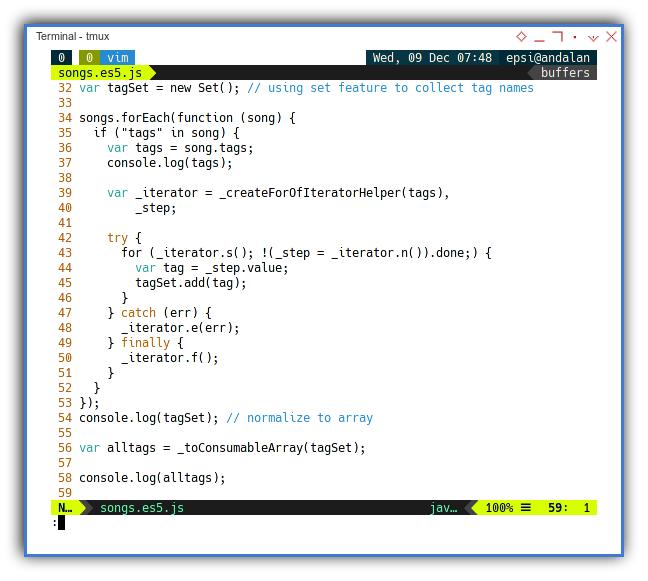 Babel: Example Ecmascript Result: Code Content