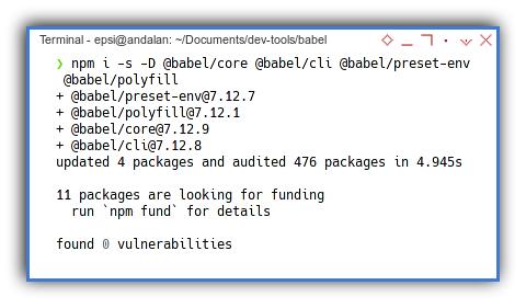 Babel: NPM Install