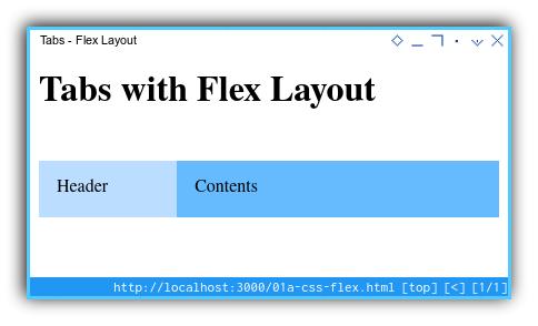 Tabs Component: Flex Layout