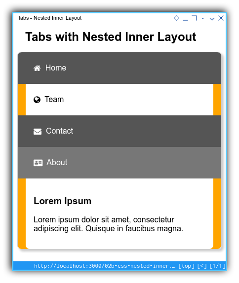 Tabs Component: Enhanced Layout: Mobile