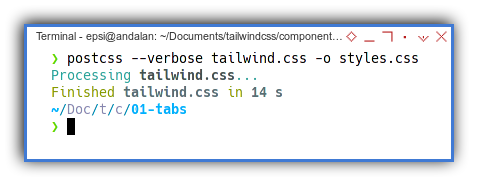 Tabs Component: Using PostCSS to Process Tailwind