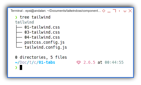 Tabs Component: Tree Directory: Tailwind