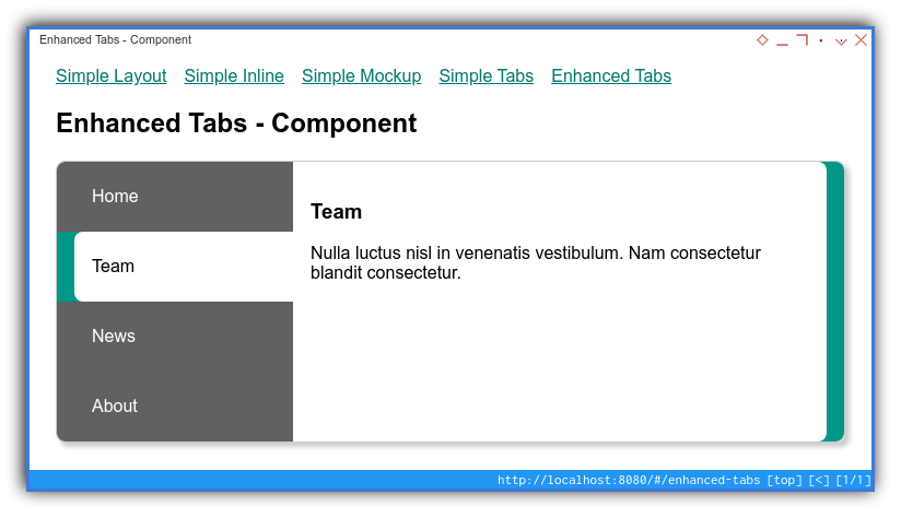 Vue App: Component Preview: Enhanced: Fully Working