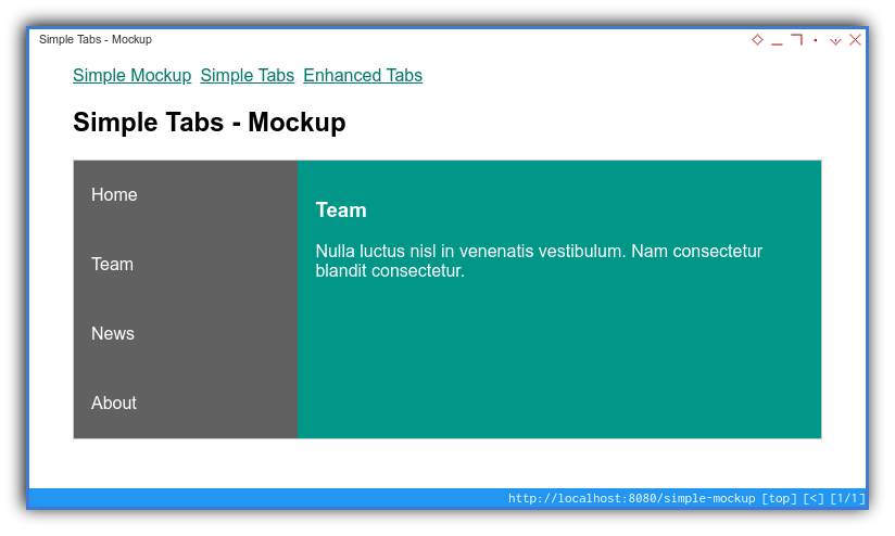 Vue App: Component Preview: Mockup: Tablet