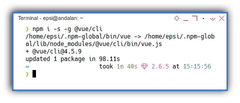 Vue2 App: NPM: Vue CLI Install