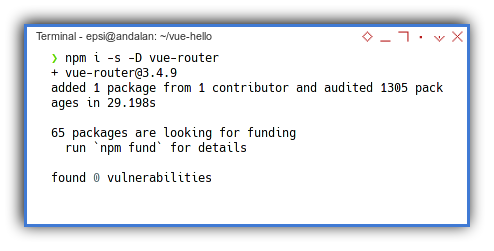 Vue2 App: NPM: Vue2 Router Install