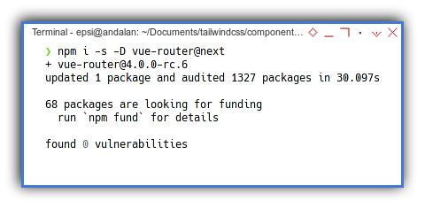 Vue3 App: NPM: Vue Router Install